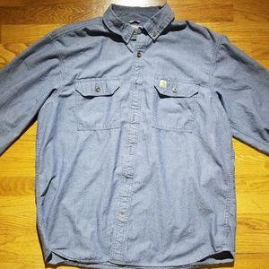 Carhartt Shirt XL Mens Long Sleeve Relaxed Fit